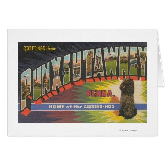 Punxsutawney, Pennsylvania (Groundhog) Greeting Card