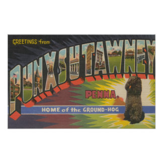 Punxsutawney, Pennsylvania (Groundhog) Poster