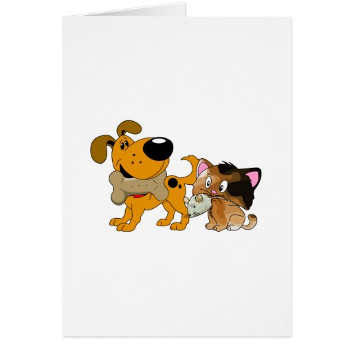 Pup and Kitty with Favorite Treat Card