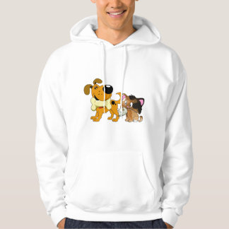 Pup and Kitty with Favorite Treat Hooded Pullover