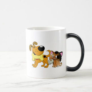 Pup and Kitty with Favorite Treat Morphing Mug