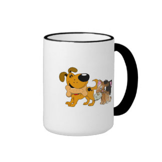Pup and Kitty with Favorite Treat Ringer Mug