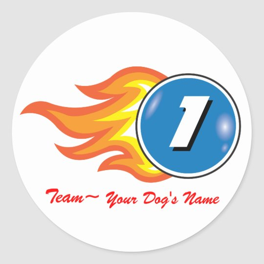 "Pup Cup Classic_Team ""Your Dog's Name"" Classic Round Sticker"