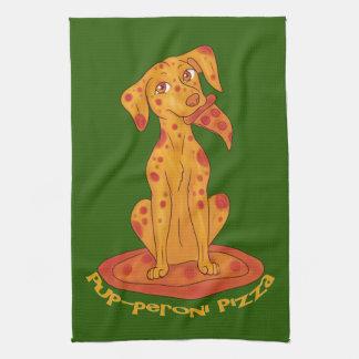 Pup-peroni Pizza Tea Towel