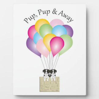 Pup Pup & Away Plaque