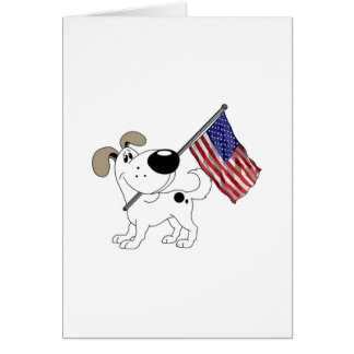 Pup with Flag Greeting Card