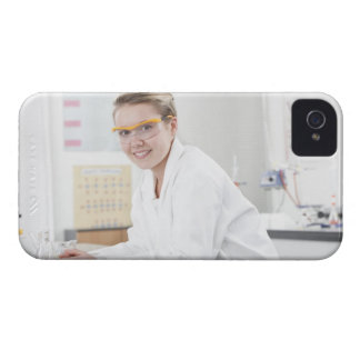 Pupil in a science lesson. iPhone 4 case