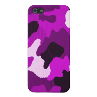 Puple Camo Case For The iPhone 5