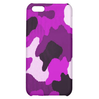 Puple Camo Cover For iPhone 5C