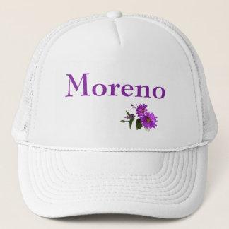 Puple Daisies Design- Purple Lettering Trucker Hat
