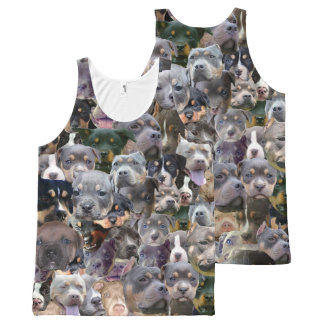 Puppers All-Over Print Tank Top