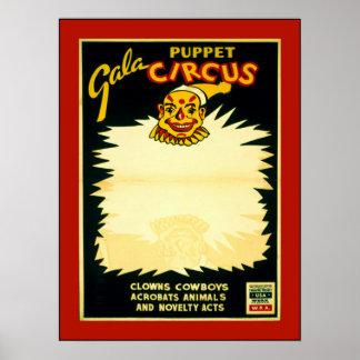 Puppet Circus Poster
