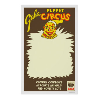 Puppet Cowboy Circus 1938 WPA Poster