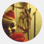 Puppet Face Round Sticker