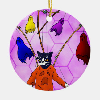 Puppet Master Cat Christmas Ornament