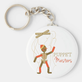 Puppet Masters Basic Round Button Key Ring
