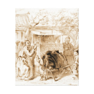 Puppet Show 1860 Gallery Wrap Canvas