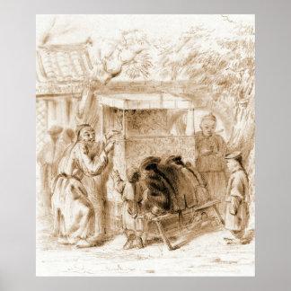 Puppet Show 1860 Print