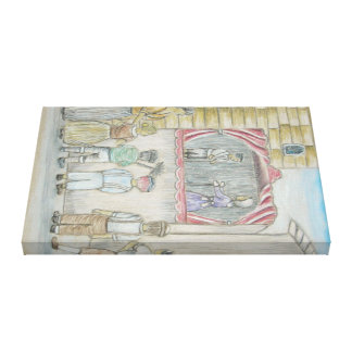 puppet show gallery wrapped canvas