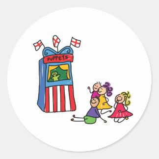 Puppet Show Stickers Round Sticker