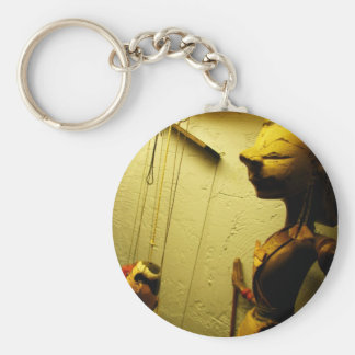 Puppets Basic Round Button Key Ring