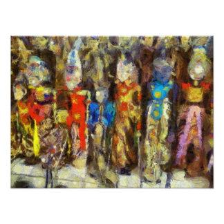 Puppets depicting Hindu gods Photographic Print