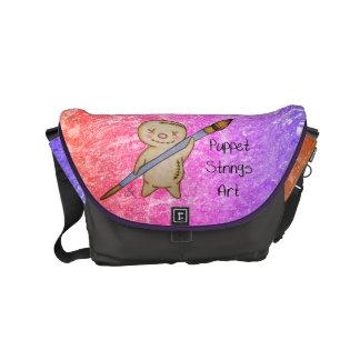 PuppetStringsArt Puppet Logo Messenger Bags