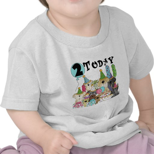 Puppies 2nd Birthday Bash Tshirts and Gifts