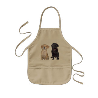 puppies kids' apron