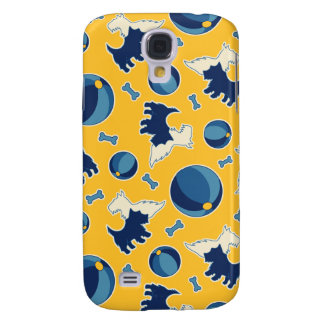 Puppies Balls and Bones Yellow and Blue Galaxy S4 Case
