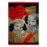 Puppies for Grandparents Valentine Card