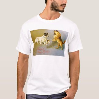 Puppies in the Straw, Victorian postcard T-Shirt