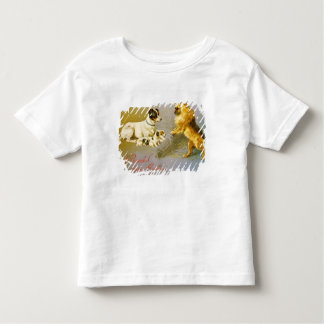 Puppies in the Straw, Victorian postcard Toddler T-Shirt