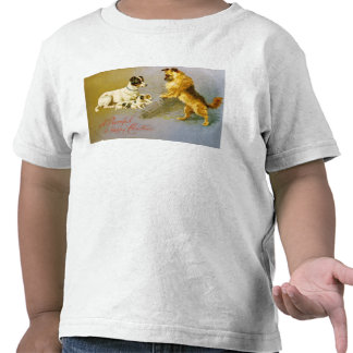Puppies in the Straw, Victorian postcard Tshirt