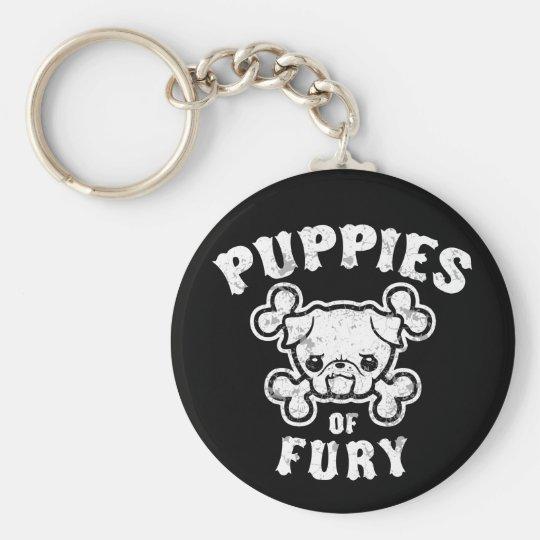Puppies of Fury Key Ring