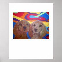 Puppies on White Print