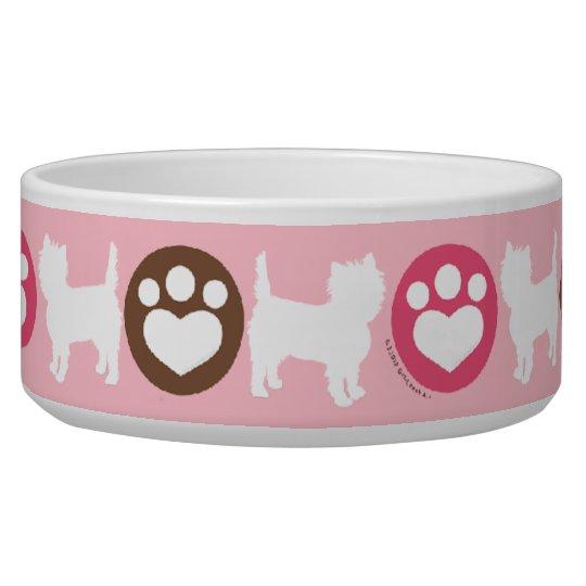 Puppies Paws Chocolate Cupcake Pet Bowls