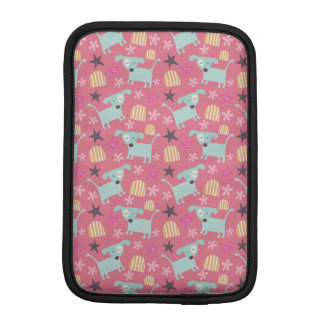 Puppies, Stars, and Flowers Sleeve For iPad Mini