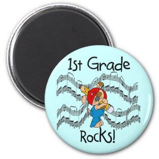 Puppy 1st Grade Rocks T-shirts and Gifts 6 Cm Round Magnet
