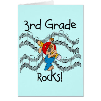 Puppy  3rd Grade Rocks Tshirts and Gifts Greeting Card