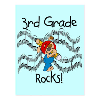 Puppy  3rd Grade Rocks Tshirts and Gifts Postcard
