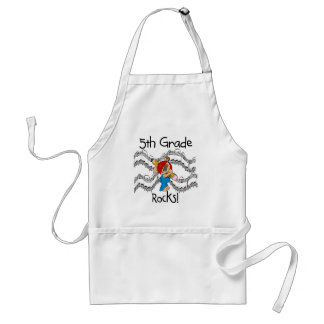 Puppy 5th Grade Rocks Tshirts and Gifts Apron