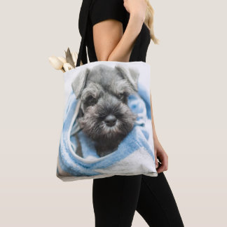 Puppy After Bath Tote Bag