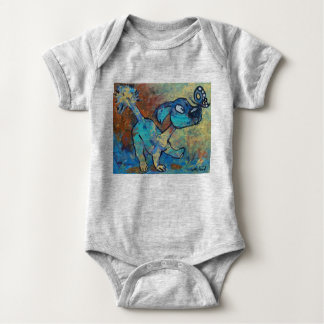 Puppy and butterfly baby bodysuit
