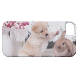 Puppy and Lop Ear Rabbit Case For The iPhone 5