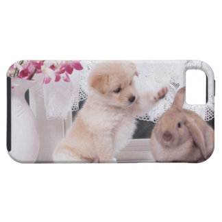 Puppy and Lop Ear Rabbit iPhone 5 Covers