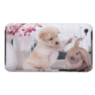 Puppy and Lop Ear Rabbit iPod Touch Case-Mate Case