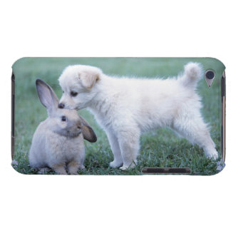 Puppy and Lop Ear Rabbit on lawn Barely There iPod Covers