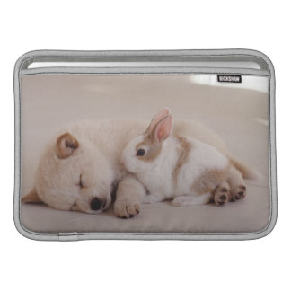 Puppy and Rabbit MacBook Sleeve