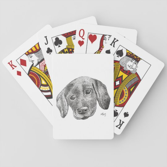 Puppy Art Playing Cards